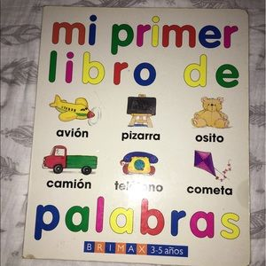 Children's Book Of first words in Spanish